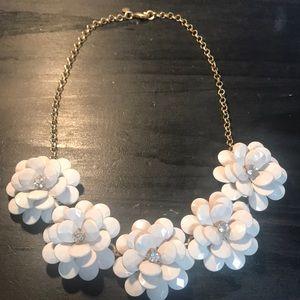 J Crew statement necklace w/white flowers